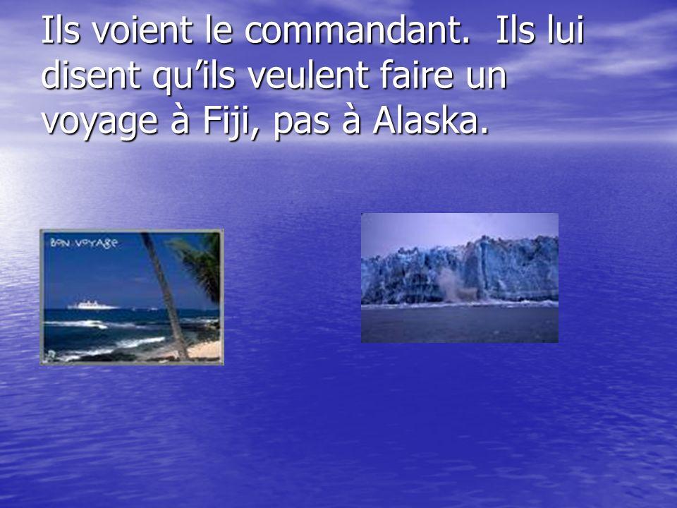 Le naivre continue à Alaska. Guy et Ousmane ne sont pas contents.