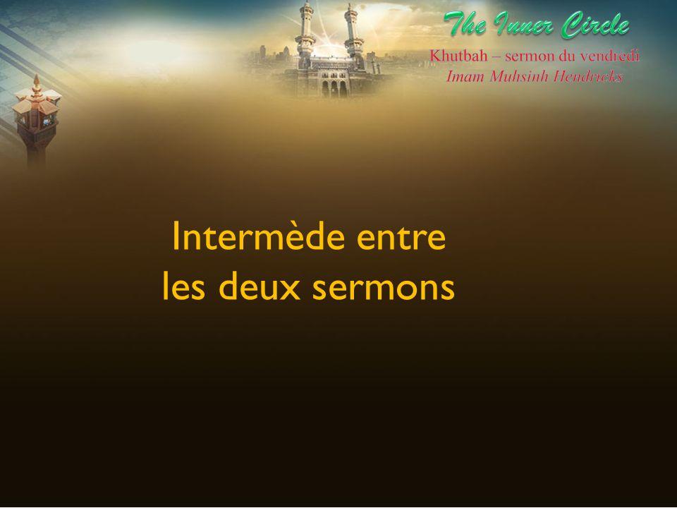 Intermède entre les deux sermons