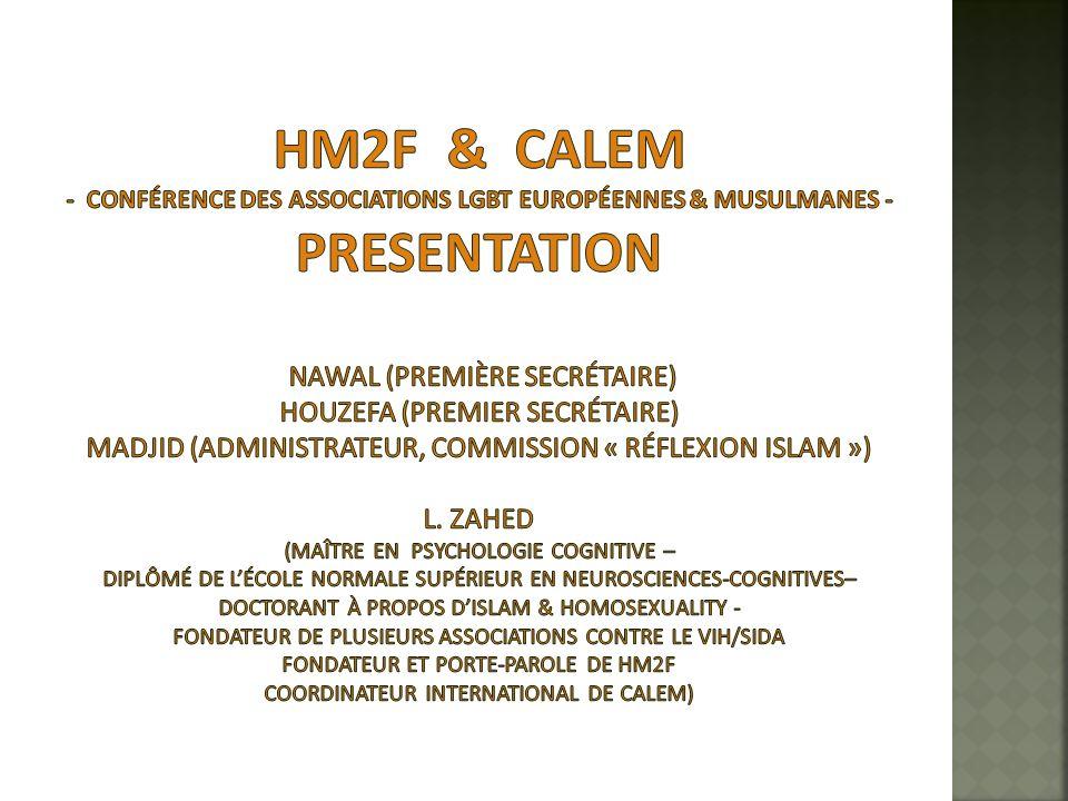 24 http://www.homosexuels-musulmans.org/gay_muslims.html Un dialogue de paix, afin de purifier nos représentations et celles dautrui Continuer sans relâche de pointer du doigt la discriminations, lostracisation Les médecins européens du 19ème siècles avaient tort, à lépoque les choses étaient perçues différemment.