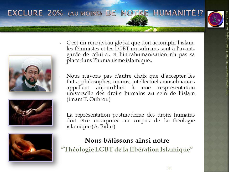 30 http://www.homosexuels-musulmans.org/gay_muslims.html - C'est un renouveau global que doit accomplir l'islam, les féministes et les LGBT musulmans
