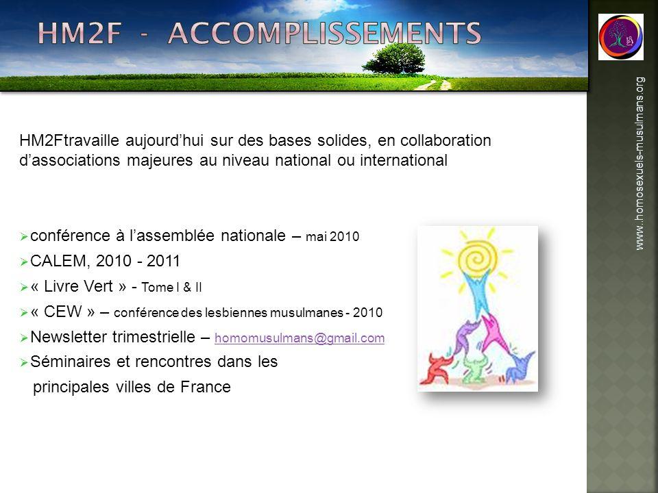 www..homosexuels-musulmans.org HM2Ftravaille aujourdhui sur des bases solides, en collaboration dassociations majeures au niveau national ou internati