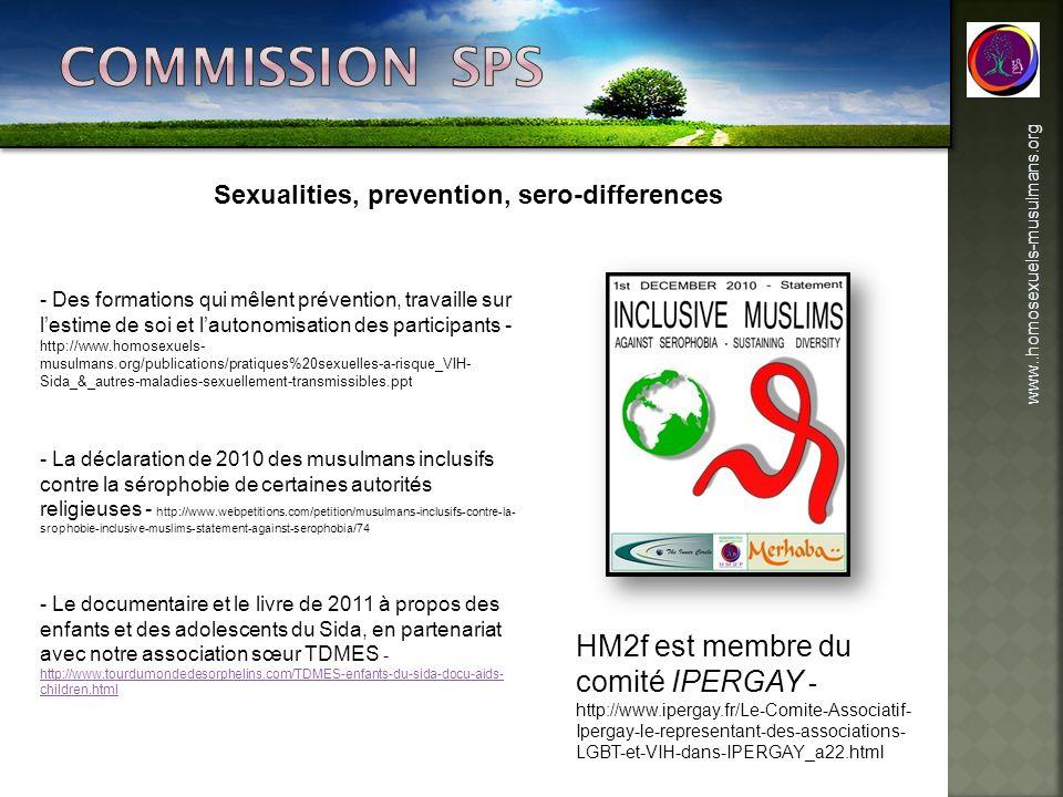 www..homosexuels-musulmans.org Sexualities, prevention, sero-differences - Des formations qui mêlent prévention, travaille sur lestime de soi et lauto