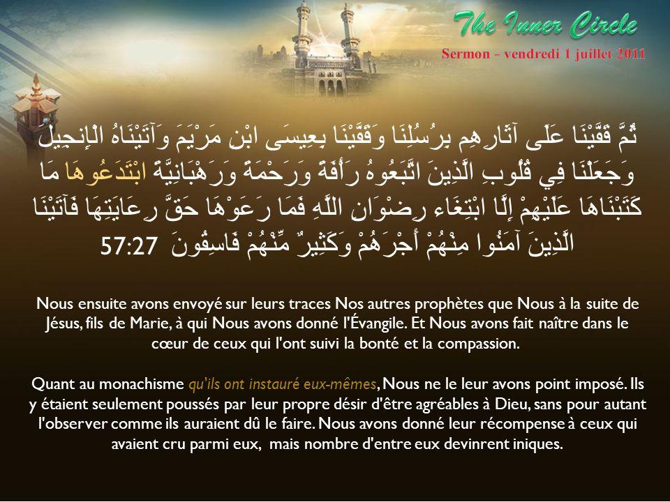 Dans ce Sermon je mappuirais sur les travaux de Umar Farouk Abd-Allah président de la fondation An-Nawawi*.
