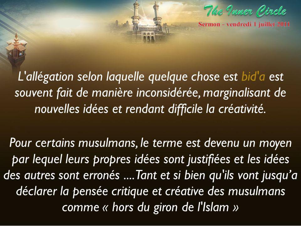 L ijtihad est intrinsèquement créative et optimiste.