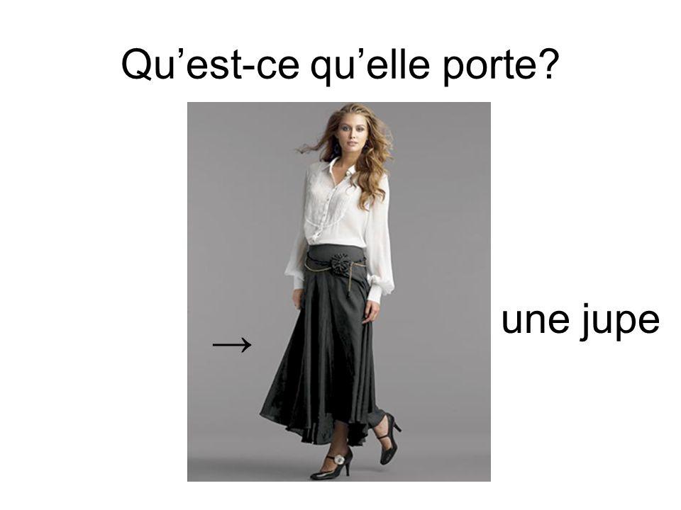Quest-ce quelle porte? une jupe