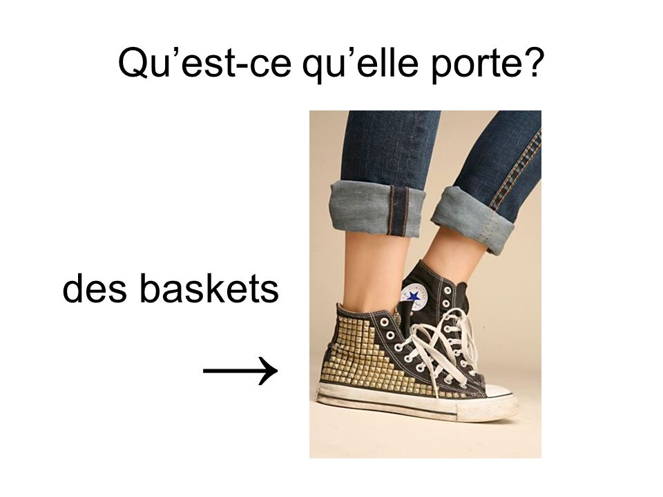 Quest-ce quelle porte? des baskets
