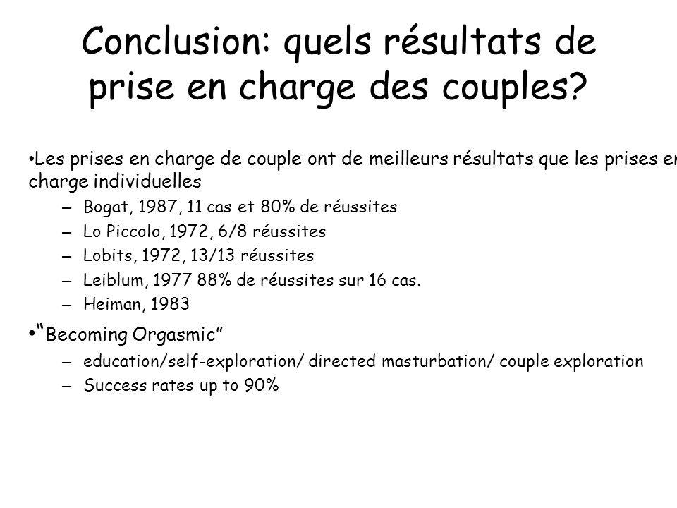 Conclusion: quels résultats de prise en charge des couples.