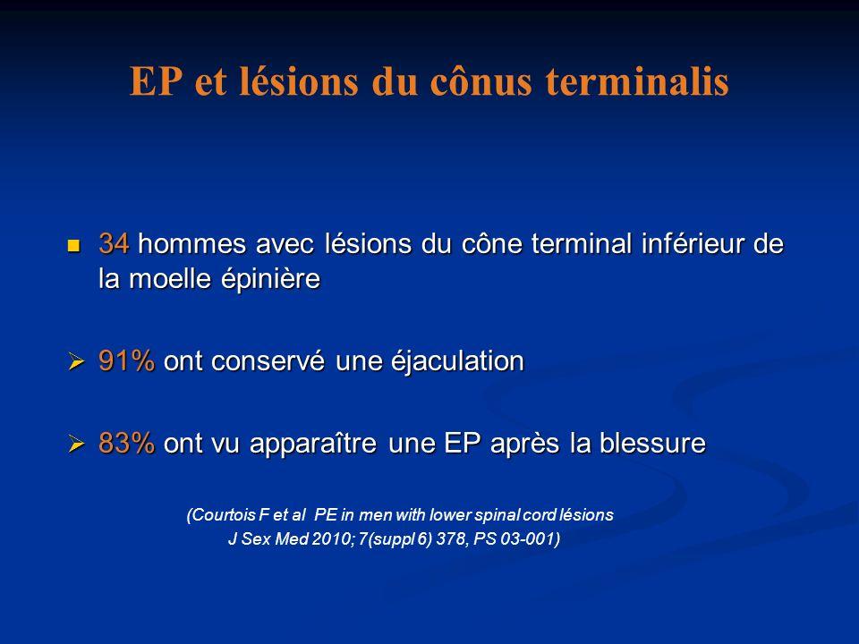 EP et lésions du cônus terminalis 34 hommes avec lésions du cône terminal inférieur de la moelle épinière 34 hommes avec lésions du cône terminal infé