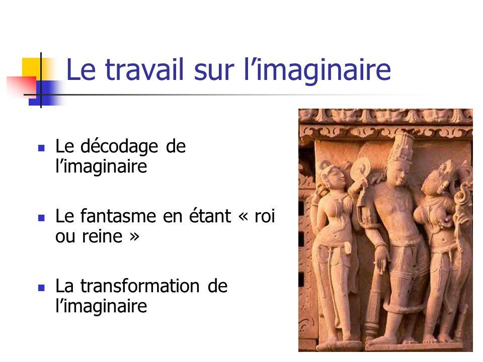 Le travail sur limaginaire Le décodage de limaginaire Le fantasme en étant « roi ou reine » La transformation de limaginaire