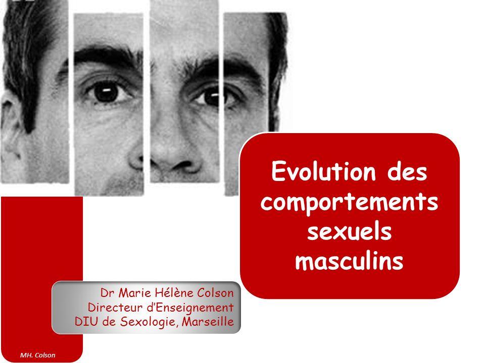 MH. Colson Dr Marie Hélène Colson Directeur dEnseignement DIU de Sexologie, Marseille Evolution des comportements sexuels masculins