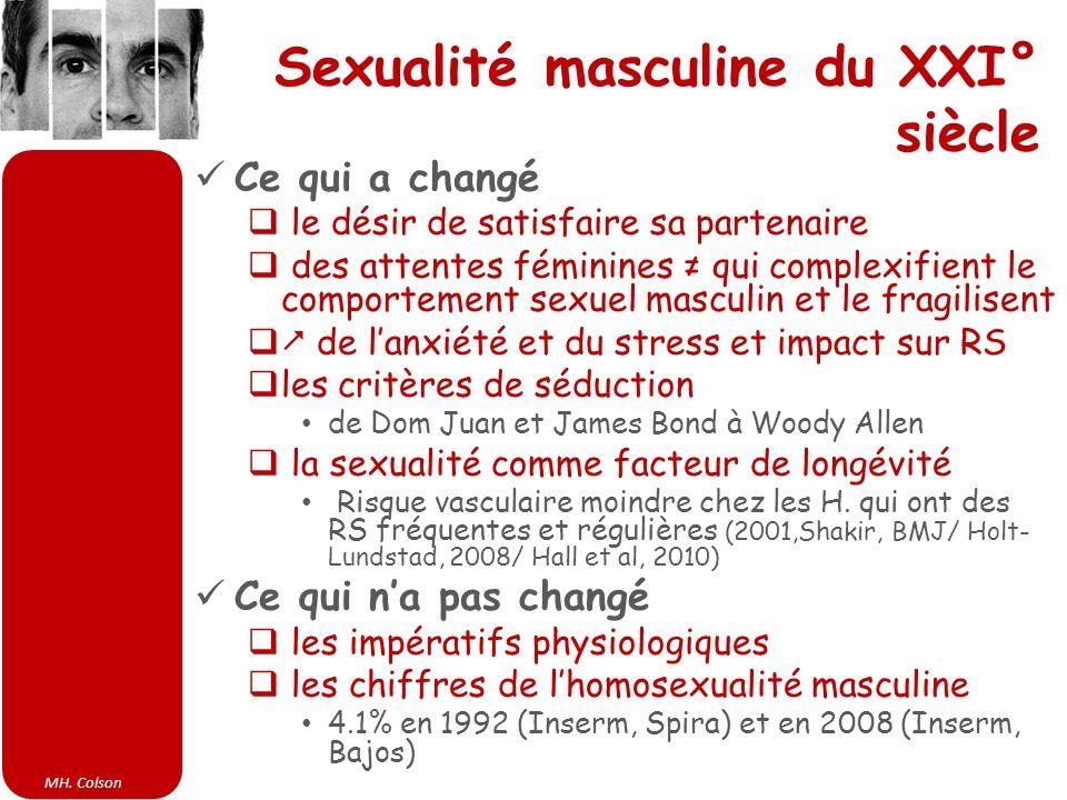 MH. Colson Sexualité masculine du XXI° siècle Ce qui a changé le désir de satisfaire sa partenaire des attentes féminines qui complexifient le comport