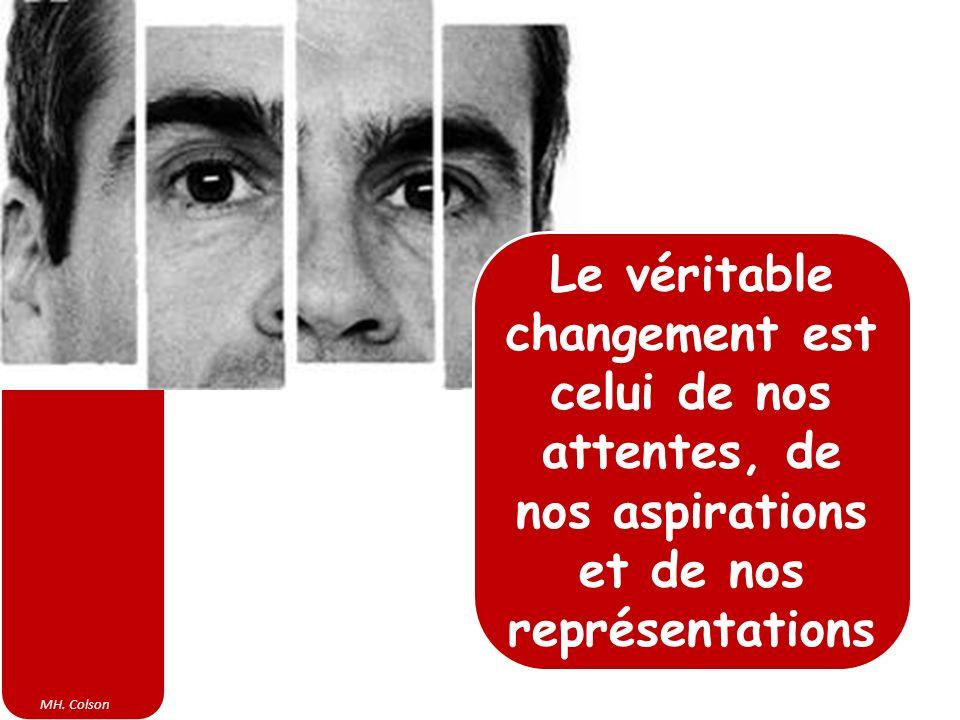 MH. Colson Le véritable changement est celui de nos attentes, de nos aspirations et de nos représentations