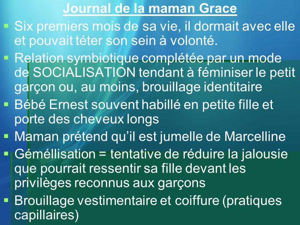Journal de la maman Grace Six premiers mois de sa vie, il dormait avec elle et pouvait téter son sein à volonté. Relation symbiotique complétée par un