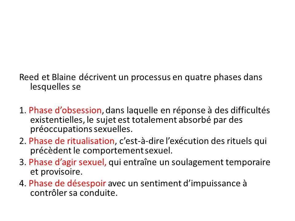 Reed et Blaine décrivent un processus en quatre phases dans lesquelles se 1. Phase dobsession, dans laquelle en réponse à des difficultés existentiell