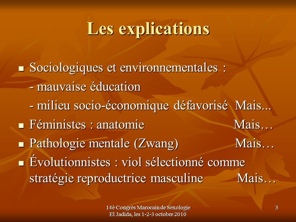 Les explications Sociologiques et environnementales : Sociologiques et environnementales : - mauvaise éducation - milieu socio-économique défavorisé M