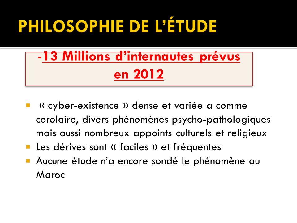 « cyber-existence » dense et variée a comme corolaire, divers phénomènes psycho-pathologiques mais aussi nombreux appoints culturels et religieux Les