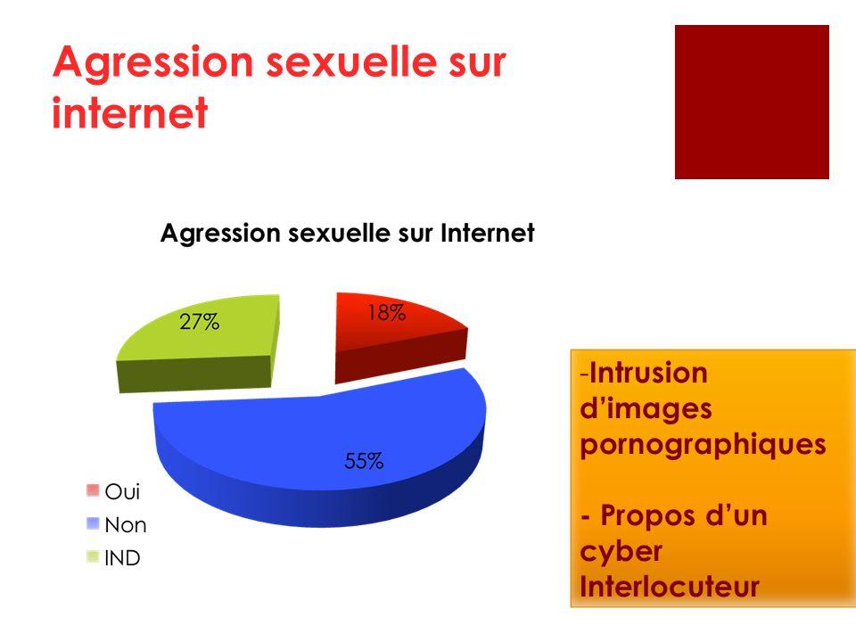 Agression sexuelle sur internet - Intrusion dimages pornographiques - Propos dun cyber Interlocuteur