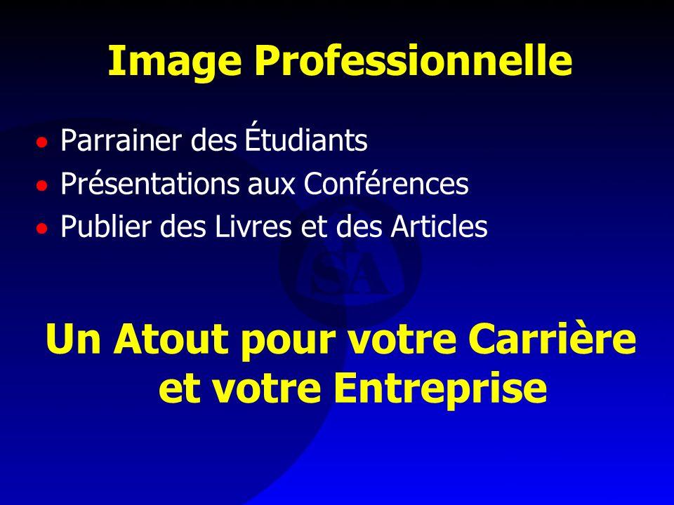 Image Professionnelle Parrainer des Étudiants Présentations aux Conférences Publier des Livres et des Articles Un Atout pour votre Carrière et votre E