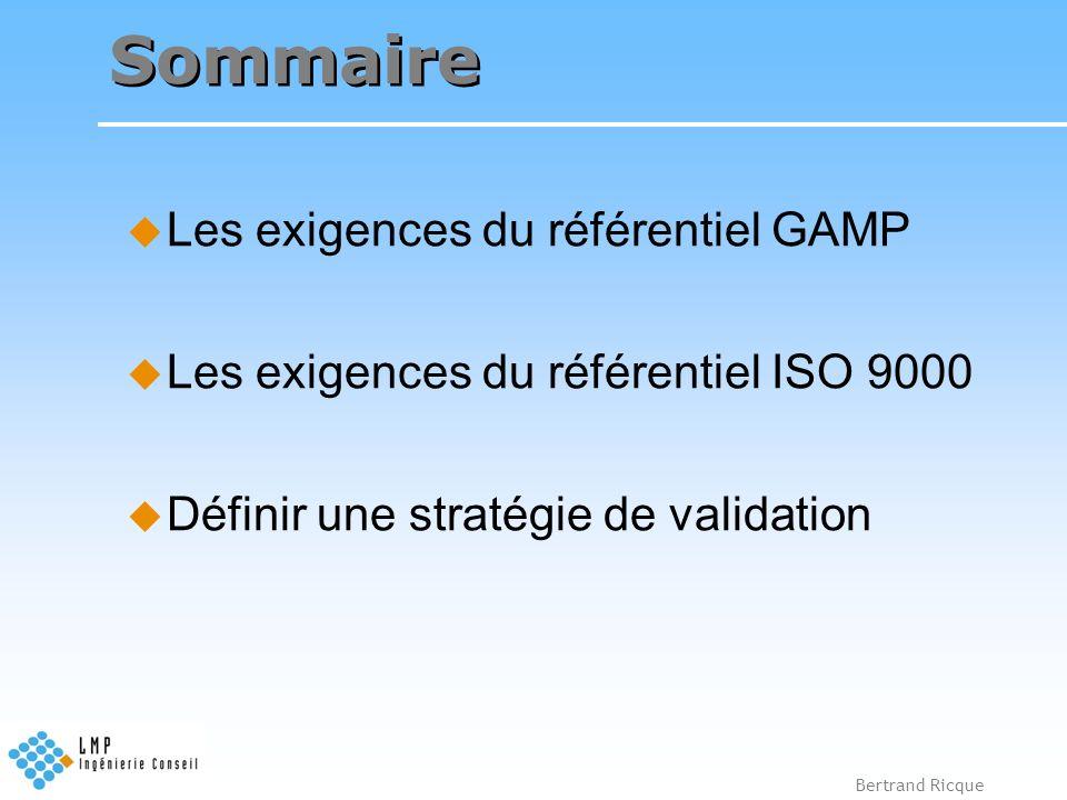 Bertrand Ricque Transcription dans le Concret Dans la lettre (FDA, GAMP), la validation correspond à la vérification de l atteinte des spécifications, Dans l esprit et dans les textes (ISO, IEC), il s agit de sûreté de fonctionnement d un système informatisé.
