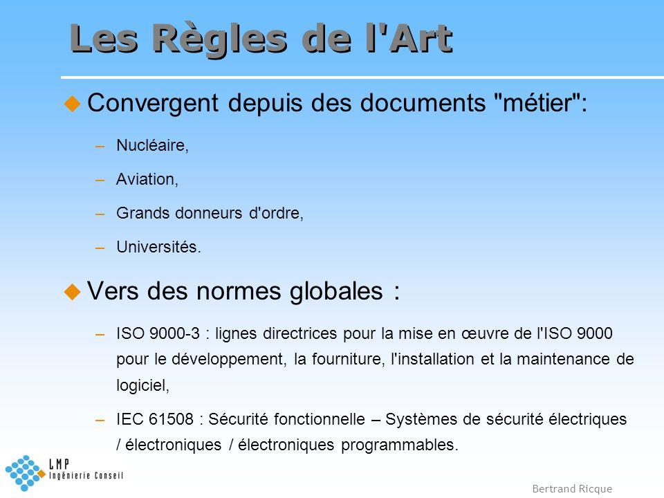 Bertrand Ricque Les Règles de l'Art Convergent depuis des documents