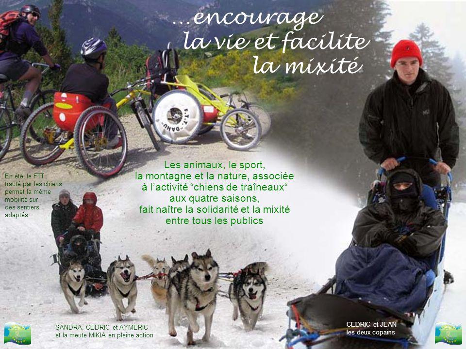 Les animaux, le sport, la montagne et la nature, associée à lactivité chiens de traîneaux aux quatre saisons, fait naître la solidarité et la mixité e