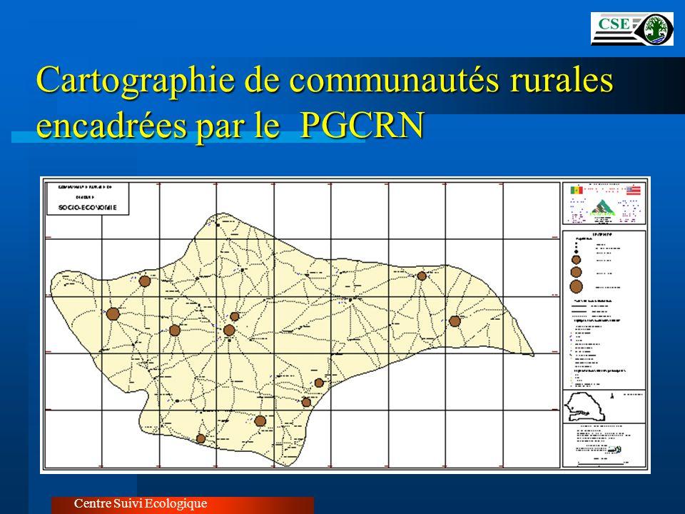 Centre Suivi Ecologique Cartographie de communautés rurales encadrées par le PGCRN