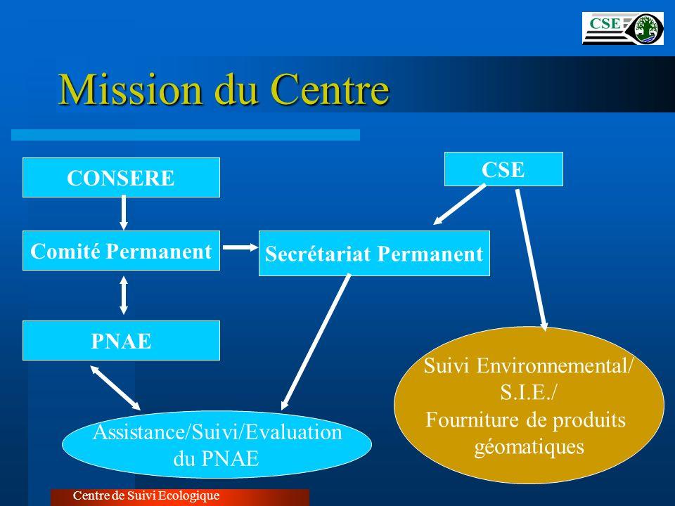 Centre de Suivi Ecologique CONSERE Comité Permanent Secrétariat Permanent PNAE Assistance/Suivi/Evaluation du PNAE Suivi Environnemental/ S.I.E./ Four