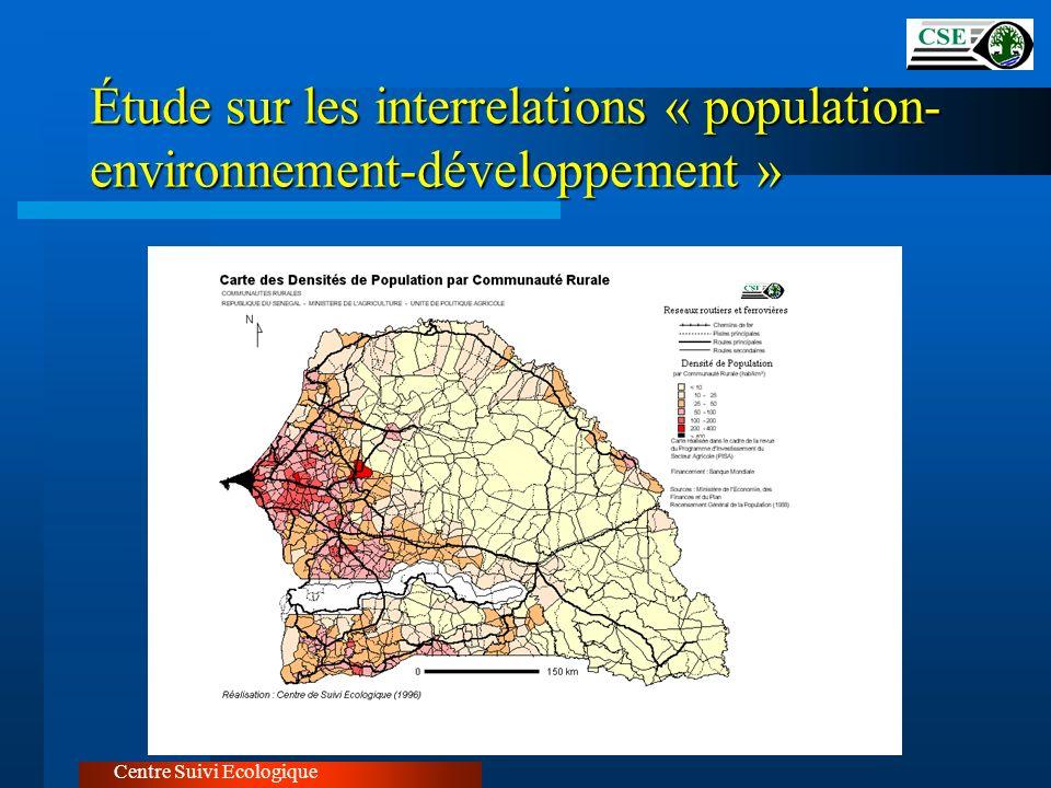 Étude sur les interrelations « population- environnement-développement » Centre Suivi Ecologique