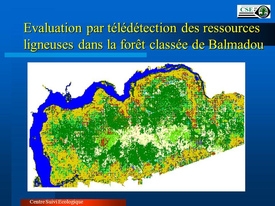 Evaluation par télédétection des ressources ligneuses dans la forêt classée de Balmadou Centre Suivi Ecologique