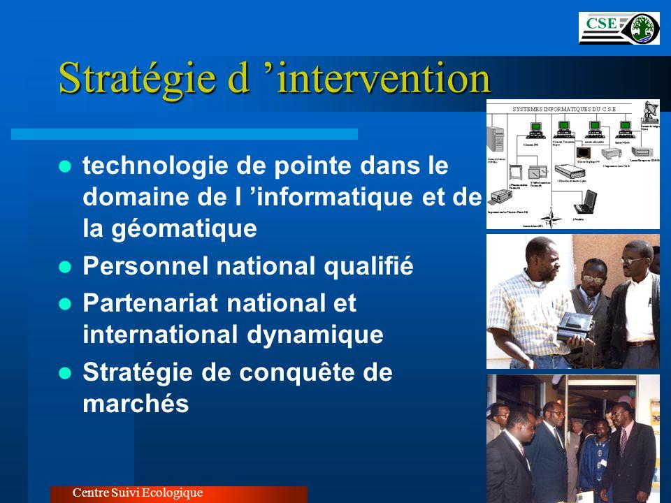 Stratégie d intervention technologie de pointe dans le domaine de l informatique et de la géomatique Personnel national qualifié Partenariat national