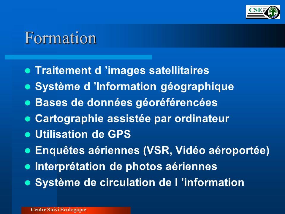 Formation Traitement d images satellitaires Système d Information géographique Bases de données géoréférencées Cartographie assistée par ordinateur Ut