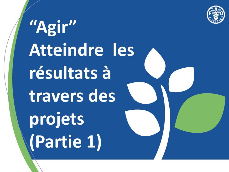 Programme par pays de qualité = Projets de qualité Comment améliorer la qualité des projets de la FAO?