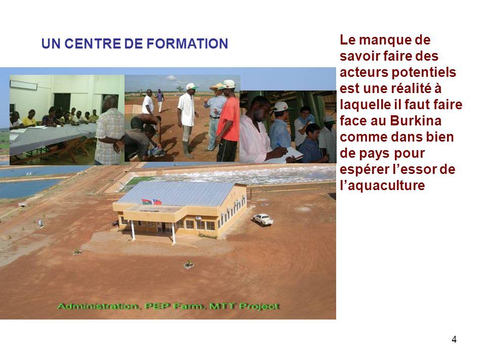 4 UN CENTRE DE FORMATION Le manque de savoir faire des acteurs potentiels est une réalité à laquelle il faut faire face au Burkina comme dans bien de
