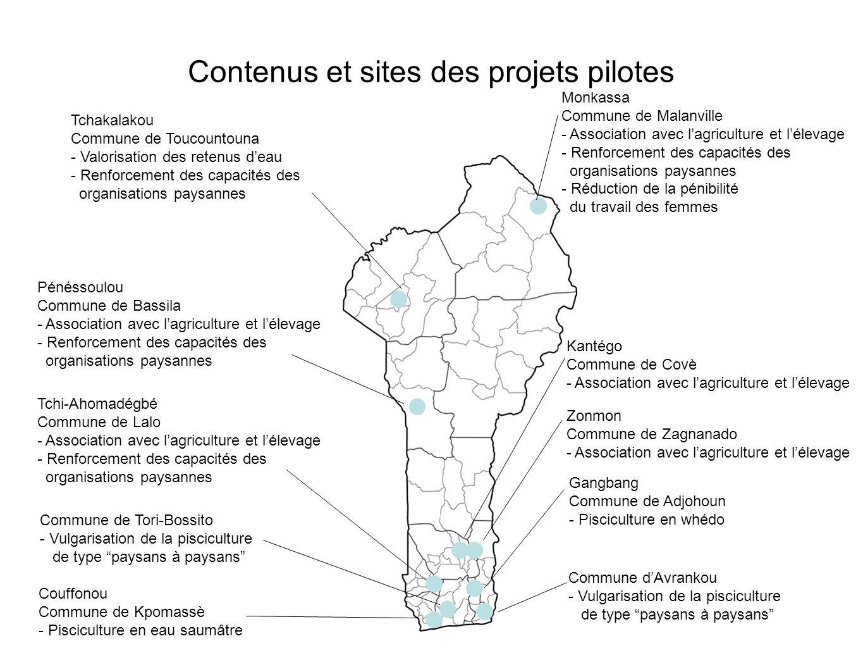 Tchakalakou Commune de Toucountouna - Valorisation des retenus deau - Renforcement des capacités des organisations paysannes Contenus et sites des pro