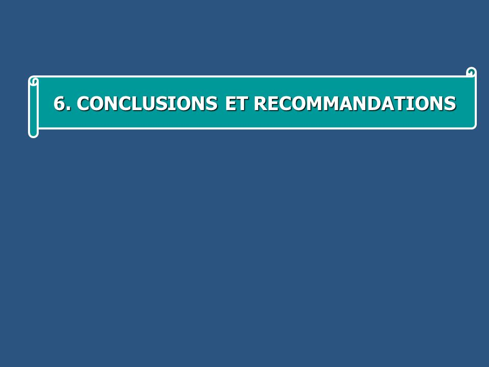 6. CONCLUSIONS ET RECOMMANDATIONS