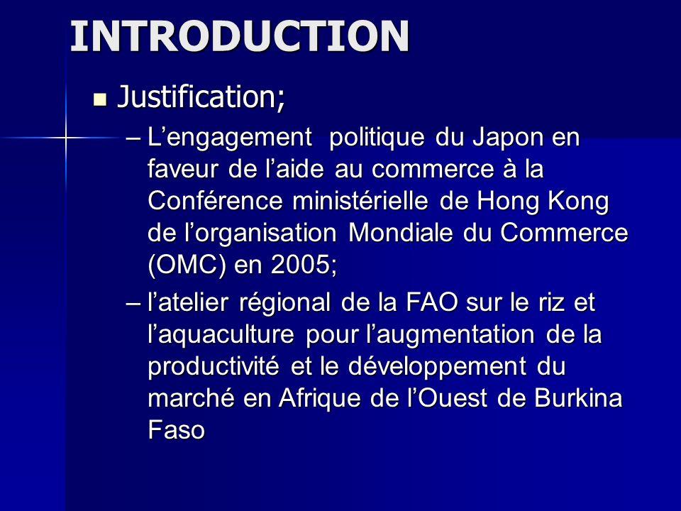INTRODUCTION Justification; –L–L–L–Lengagement politique du Japon en faveur de laide au commerce à la Conférence ministérielle de Hong Kong de lorgani
