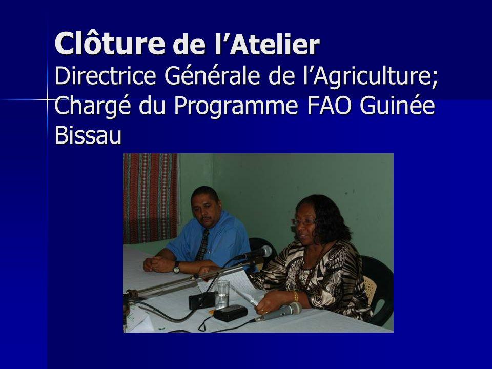 Les Conclusions Pour démarrer laquaculture et assurer sa pérennité en Guinée Bissau, il faudrait que sa mise en œuvre suive une approche participative.