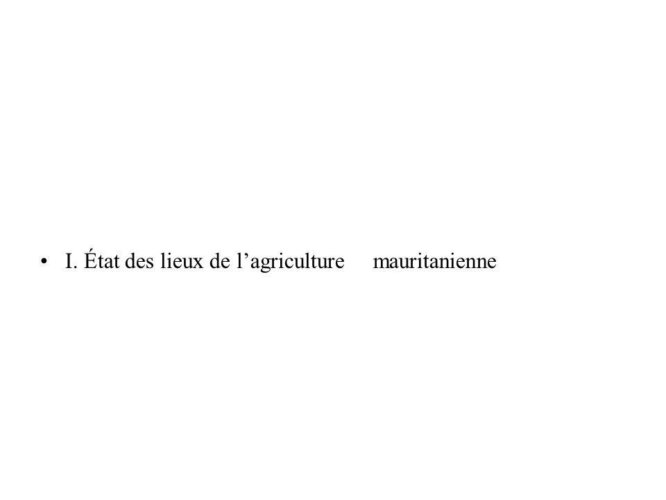 I. État des lieux de lagriculture mauritanienne