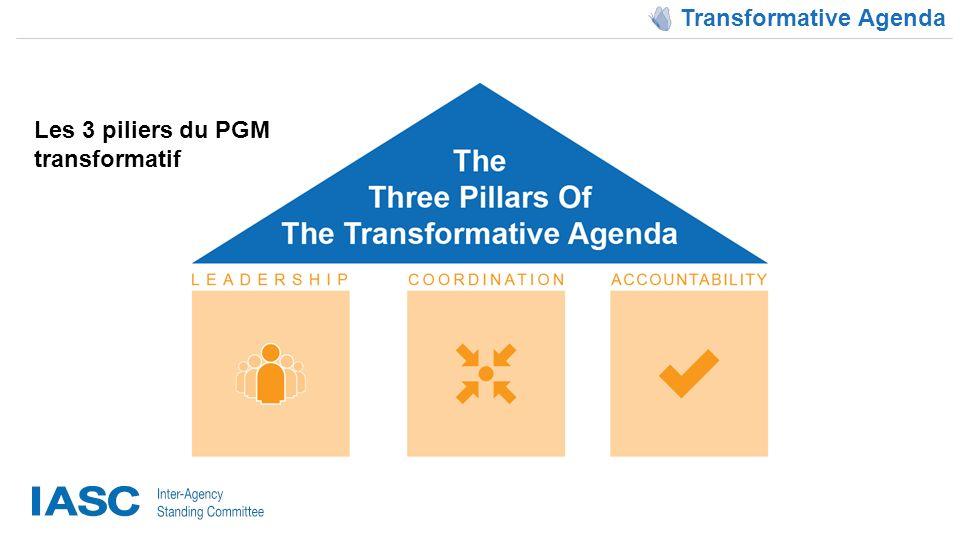 Transformative Agenda Les 3 piliers du PGM transformatif