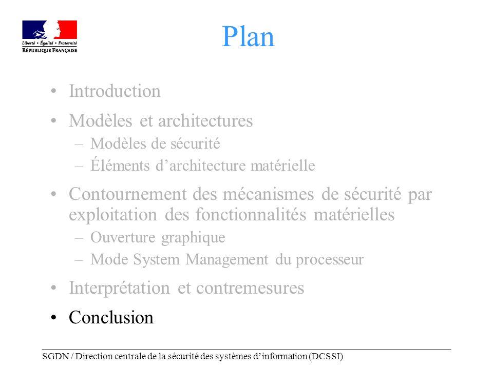 _____________________________________________________________________________________ SGDN / Direction centrale de la sécurité des systèmes dinformation (DCSSI) Conclusion Nous avons présenté des exemples concrets descalade de privilèges sous OpenBSD.