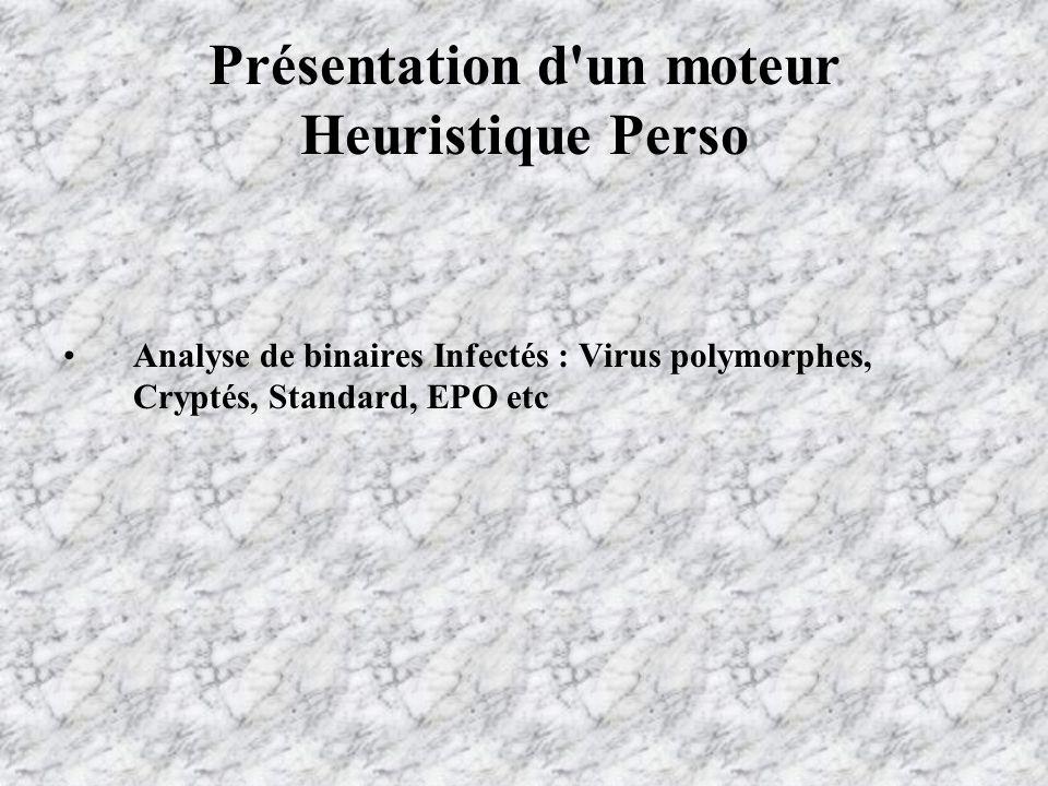 Analyse de binaires Infectés : Virus polymorphes, Cryptés, Standard, EPO etc