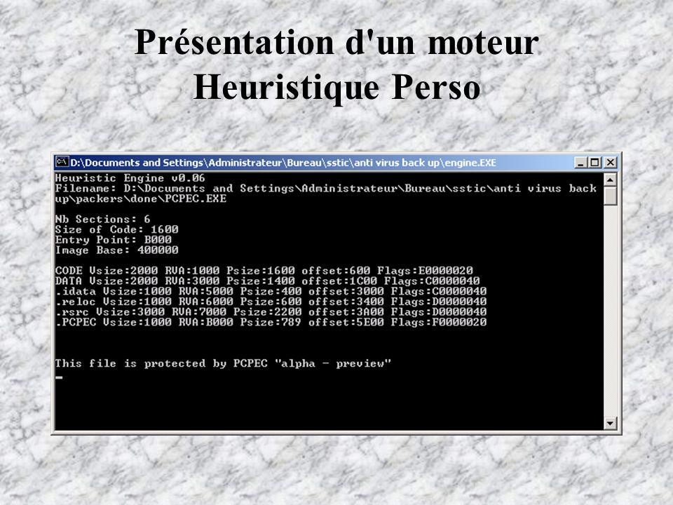 Présentation d un moteur Heuristique Perso