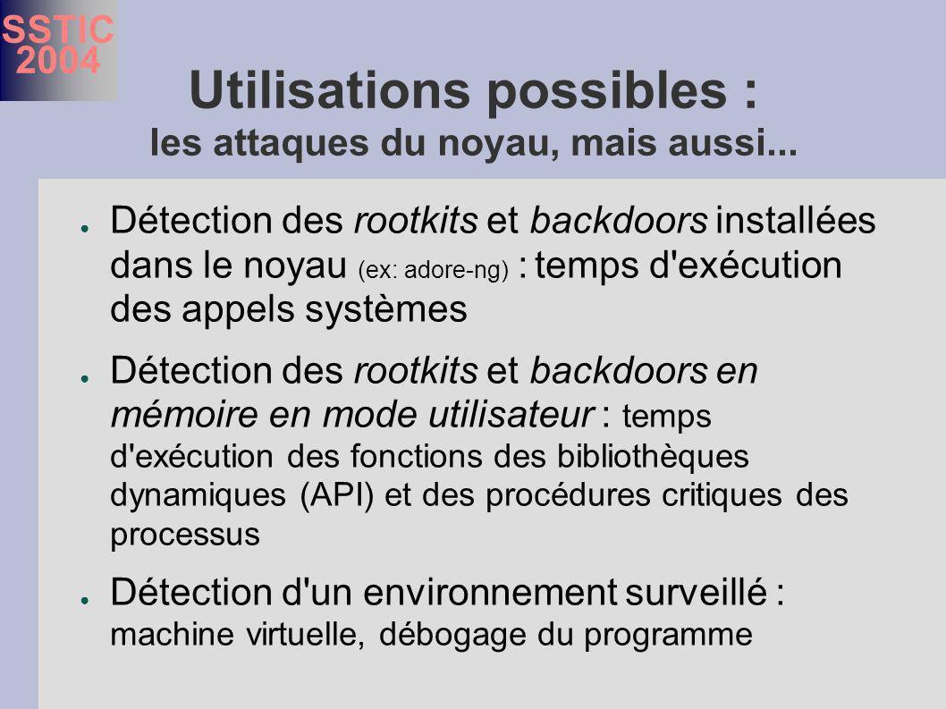 SSTIC 2004 Utilisations possibles : les attaques du noyau, mais aussi...