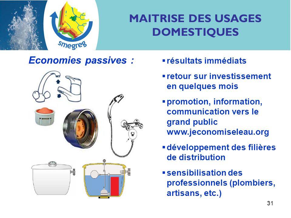 31 résultats immédiats retour sur investissement en quelques mois promotion, information, communication vers le grand public www.jeconomiseleau.org dé