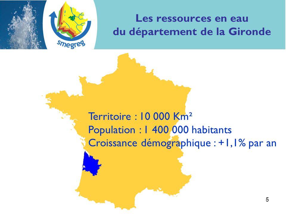5 Territoire : 10 000 Km² Population : 1 400 000 habitants Croissance démographique : +1,1% par an
