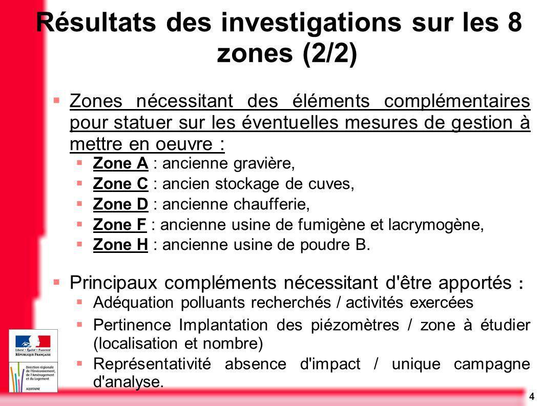 4 Zones nécessitant des éléments complémentaires pour statuer sur les éventuelles mesures de gestion à mettre en oeuvre : Zone A : ancienne gravière,