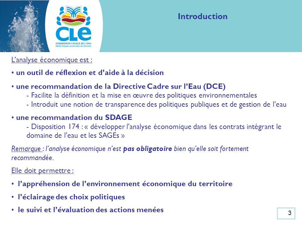 4 Analyse économique du SAGE Nappes profondes de Gironde Le poids économique des secteurs dactivité et les usages de leau