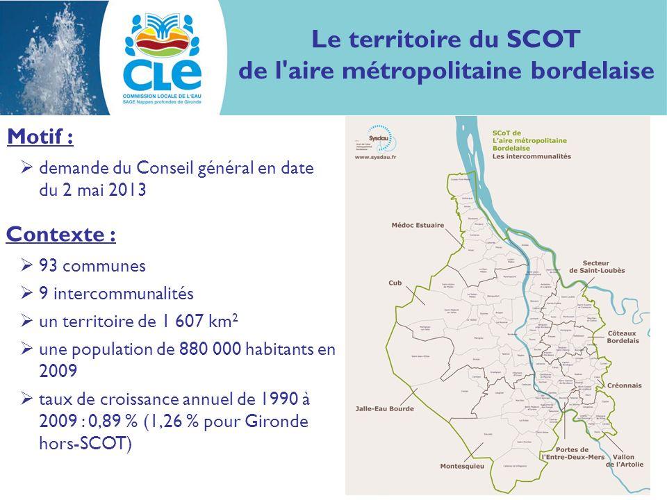 Contexte : 93 communes 9 intercommunalités un territoire de 1 607 km 2 une population de 880 000 habitants en 2009 taux de croissance annuel de 1990 à
