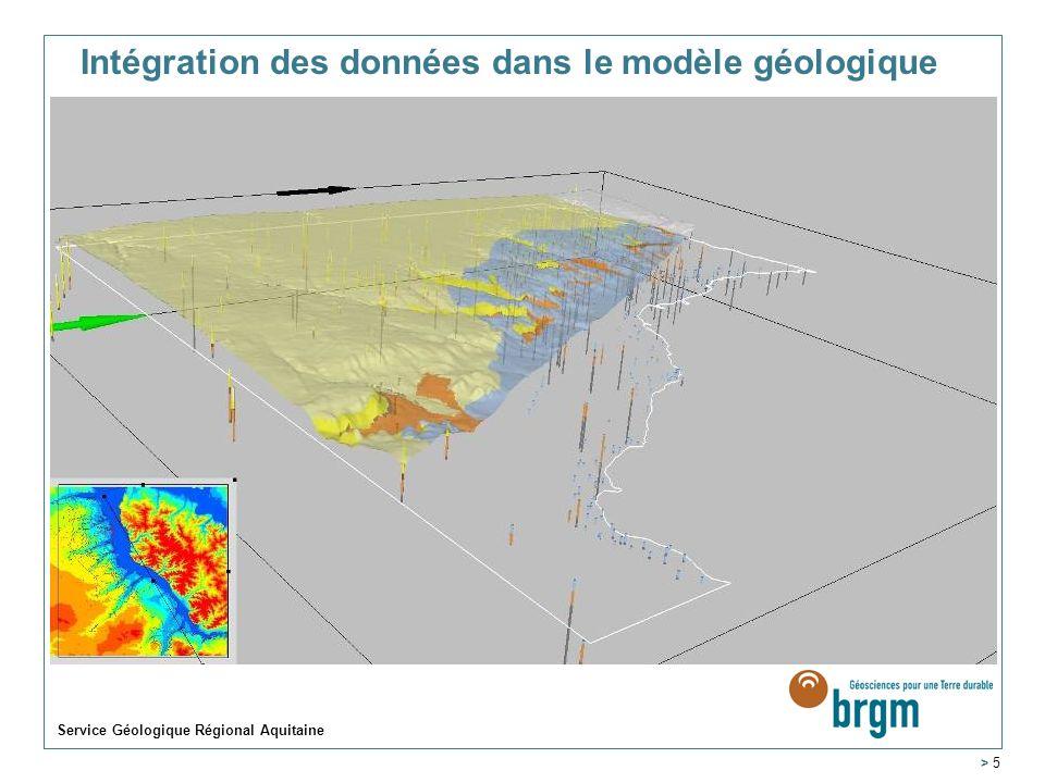 Service Géologique Régional Aquitaine > 5 Intégration des données dans le modèle géologique