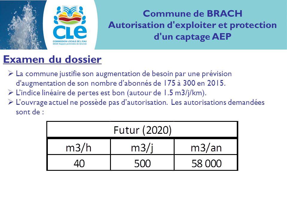 Examen du dossier La commune justifie son augmentation de besoin par une prévision d'augmentation de son nombre dabonnés de 175 à 300 en 2015. Lindice